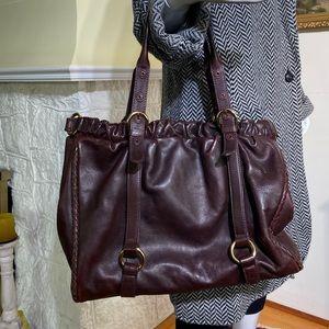 Sondra Roberts X-Large Leather Shoulder Bag